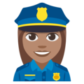 Woman Police Officer: Medium Skin Tone on EmojiOne 3.1