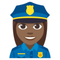 Woman Police Officer: Medium-Dark Skin Tone on EmojiOne 3.1