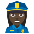 Woman Police Officer: Dark Skin Tone on EmojiOne 3.1