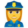 Woman Police Officer on EmojiOne 3.1