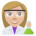 Woman Scientist: Medium-Light Skin Tone on EmojiOne 3.1