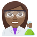 Woman Scientist: Medium-Dark Skin Tone on EmojiOne 3.1