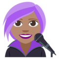 Woman Singer: Medium Skin Tone on EmojiOne 3.1