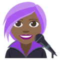 Woman Singer: Medium-Dark Skin Tone on EmojiOne 3.1