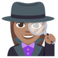 Woman Detective: Medium Skin Tone on EmojiOne 3.1