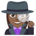 Woman Detective: Medium-Dark Skin Tone on EmojiOne 3.1