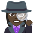 Woman Detective: Dark Skin Tone on EmojiOne 3.1