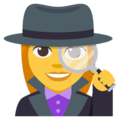 Woman Detective on EmojiOne 3.1