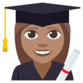 Woman Student: Medium Skin Tone on EmojiOne 3.1