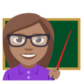 Woman Teacher: Medium Skin Tone on EmojiOne 3.1