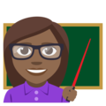 Woman Teacher: Medium-Dark Skin Tone on EmojiOne 3.1