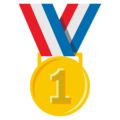 1st Place Medal on EmojiOne 3.1