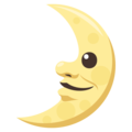 First Quarter Moon Face on EmojiOne 3.1