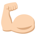 Flexed Biceps: Light Skin Tone on EmojiOne 3.1