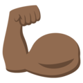 Flexed Biceps: Medium-Dark Skin Tone on EmojiOne 3.1
