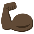 Flexed Biceps: Dark Skin Tone on EmojiOne 3.1