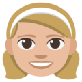 Girl: Medium-Light Skin Tone on EmojiOne 3.1