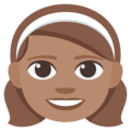 Girl: Medium Skin Tone on EmojiOne 3.1