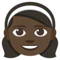 Girl: Dark Skin Tone on EmojiOne 3.1