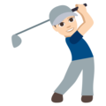 Person Golfing: Light Skin Tone on EmojiOne 3.1