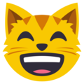 Grinning Cat Face With Smiling Eyes on EmojiOne 3.1