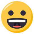 Grinning Face on EmojiOne 3.1