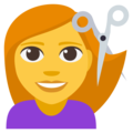 Person Getting Haircut on EmojiOne 3.1