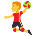 Person Playing Handball on EmojiOne 3.1