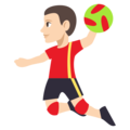 Person Playing Handball: Light Skin Tone on EmojiOne 3.1