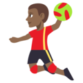 Person Playing Handball: Medium-Dark Skin Tone on EmojiOne 3.1