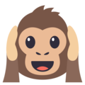 Hear-No-Evil Monkey on EmojiOne 3.1