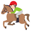 Horse Racing: Light Skin Tone on EmojiOne 3.1