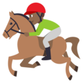 Horse Racing: Medium-Dark Skin Tone on EmojiOne 3.1