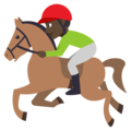 Horse Racing: Dark Skin Tone on EmojiOne 3.1