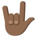 Love-You Gesture: Medium-Dark Skin Tone on EmojiOne 3.1