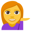 Person Tipping Hand on EmojiOne 3.1