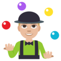 Person Juggling: Medium-Light Skin Tone on EmojiOne 3.1