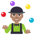 Person Juggling: Medium Skin Tone on EmojiOne 3.1