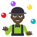 Person Juggling: Dark Skin Tone on EmojiOne 3.1