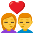 Kiss: Woman, Man on EmojiOne 3.1