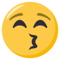 Kissing Face With Closed Eyes on EmojiOne 3.1
