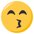 Kissing Face With Smiling Eyes on EmojiOne 3.1