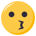 Kissing Face on EmojiOne 3.1