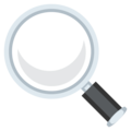 Left-Pointing Magnifying Glass on EmojiOne 3.1
