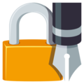Locked With Pen on EmojiOne 3.1