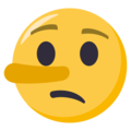 Lying Face on EmojiOne 3.1