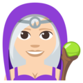 Mage: Light Skin Tone on EmojiOne 3.1
