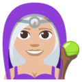 Mage: Medium-Light Skin Tone on EmojiOne 3.1