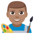 Man Artist: Medium Skin Tone on EmojiOne 3.1