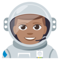 Man Astronaut: Medium Skin Tone on EmojiOne 3.1